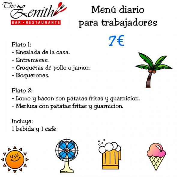 Restaurante Zenith Menú