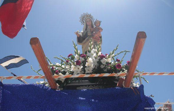 "La virgen del Carmen a bordo del ""Cap Prim Segundo"""