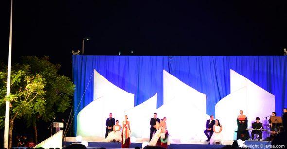 Ballet que actuó durante la presentación