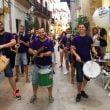 Batucada en las calles del centro histórico de Xàbia