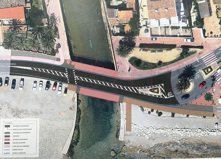 Boceto orientativo puente de Triana de Xàbia