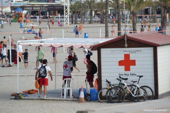 Cruz Roja puesto de la Playa del Arenal