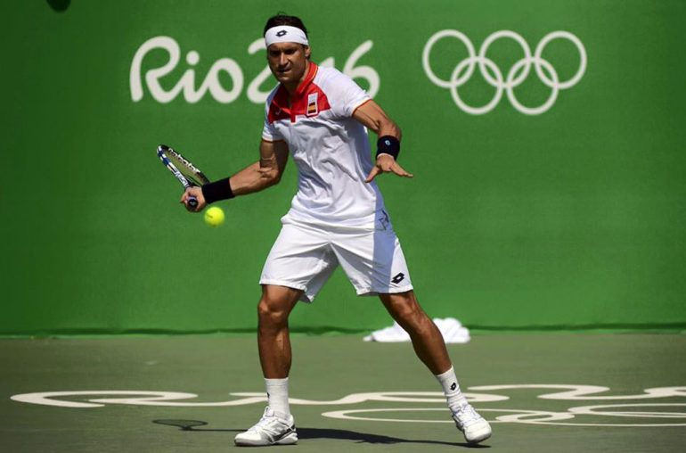 David Ferrer en los Juegos Olímpicos de Río