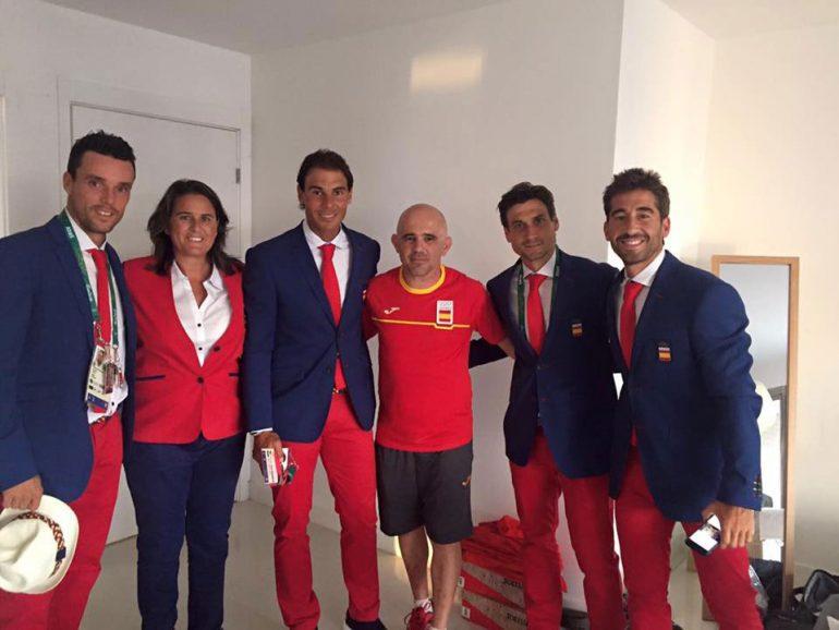 Equipo Español de tenis en la Villa Olímpica