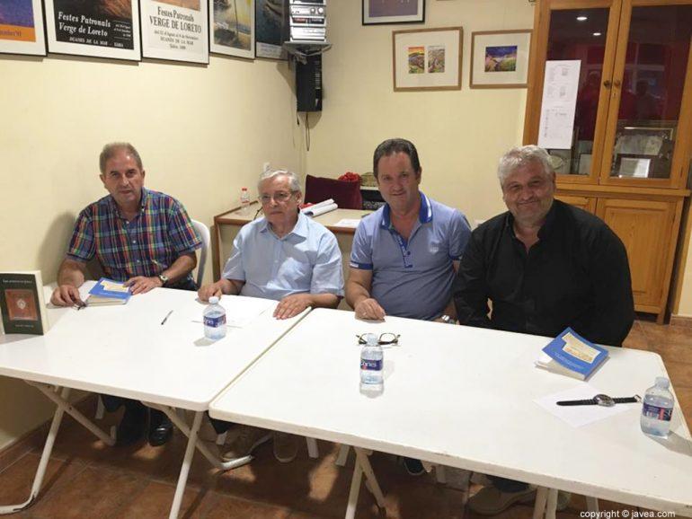 Erades, Juan Bautista Codina, Juanjo Pérez y Quico Moragues
