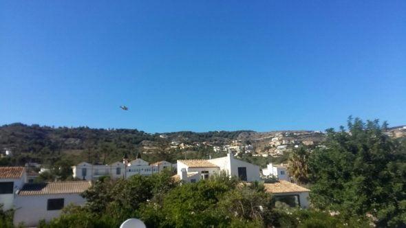 Medios aéreos en el incendio de Xàbia