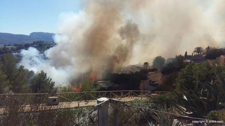 Incendio Urbanización Nova Xàbia