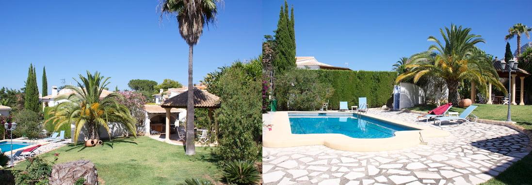 Jard n y piscina de la casa j x - Piscina y jardin ...