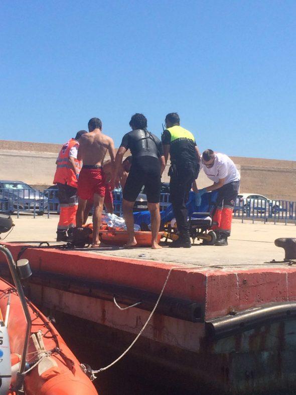 Meno a su llegada al puerto
