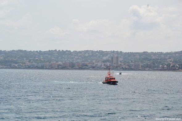 Salvamento Maritimo a su llegada al puerto