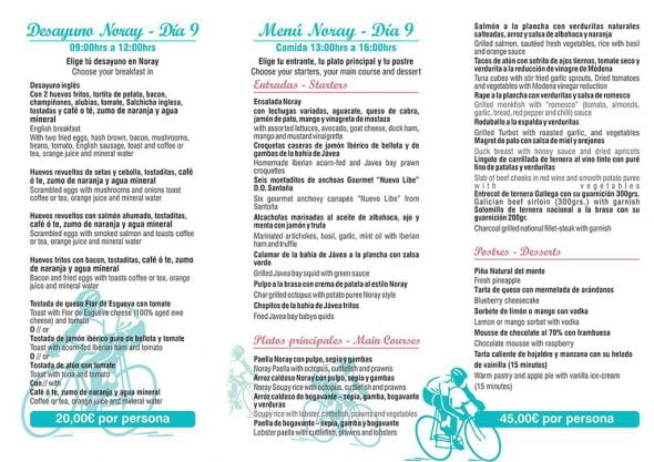 Menús en Restaurante Noray para vuelta ciclista