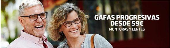 Oferta gafas progresivas Specsavers