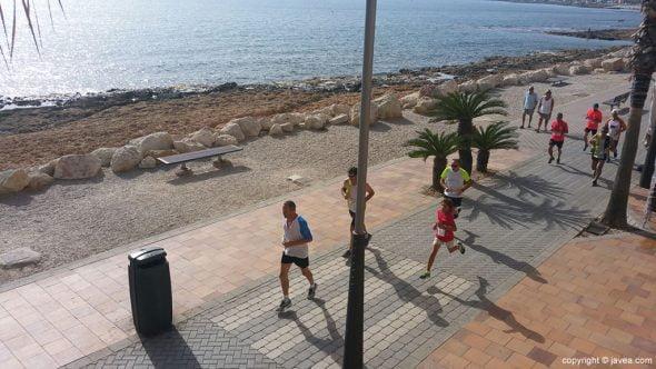 Algunos de los participantes en la carrera