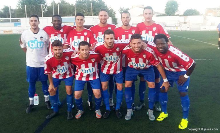 Primer once del CD Jávea de la temporada 2016-17