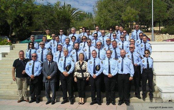 Agentes de la Policía Local de Xàbia