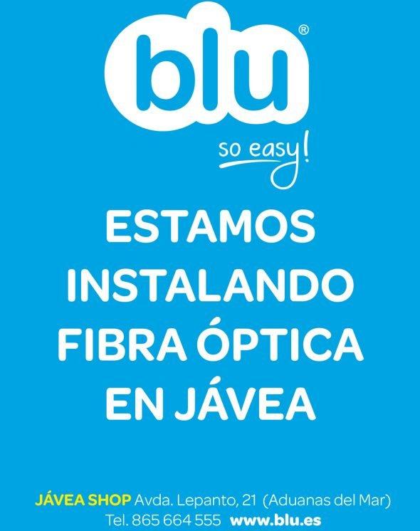 Blu instala fibra óptica en Jávea