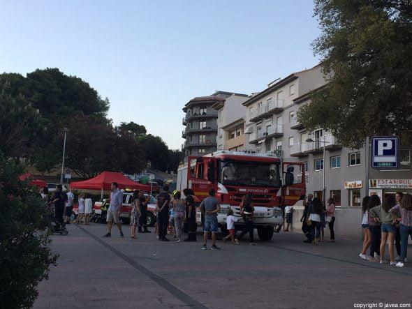 El camión de bomberos, uno de los más visitados