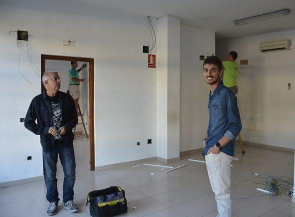 El concejal Ximo Segarra en las instalaciones
