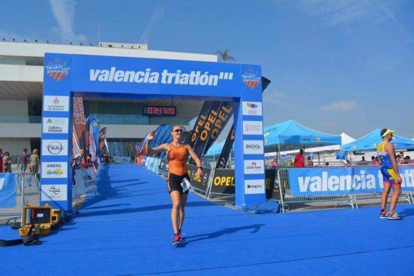 Cristina Roselló en el Valencia Triatlón