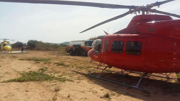 Repostaje helicóptero