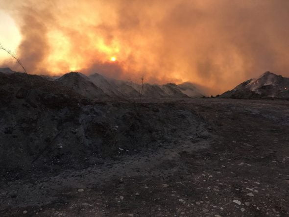Incendio de la zona Ramblars