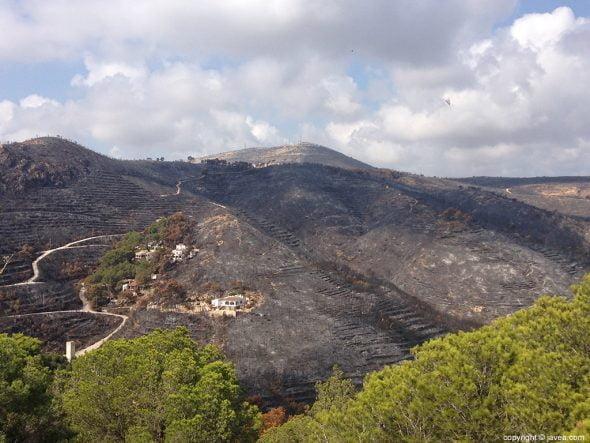 Incendio forestal de La Granadella