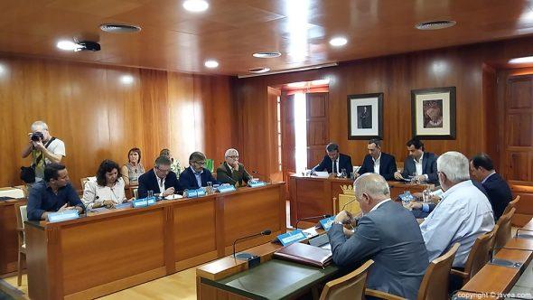 Junta de gobierno de la Diputación en Xàbia