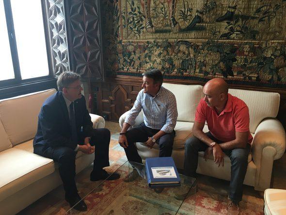 Reunidos con el presidente de la Generalitat