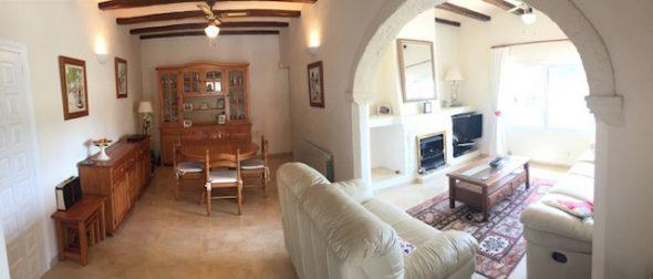 Salón comedor de la casa Terra Mar Costa Blanca