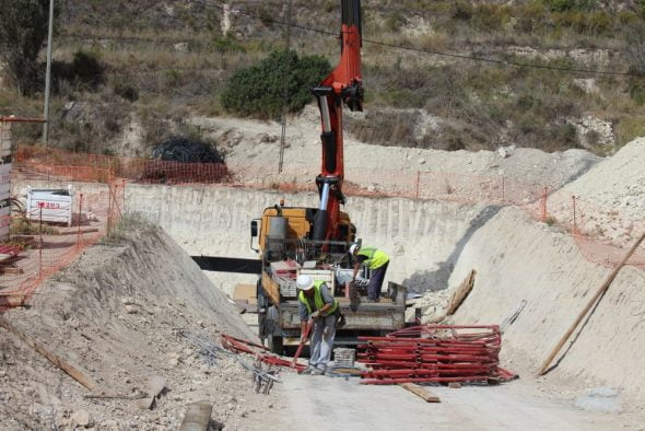 Obras en la depuradora de Benitatxell