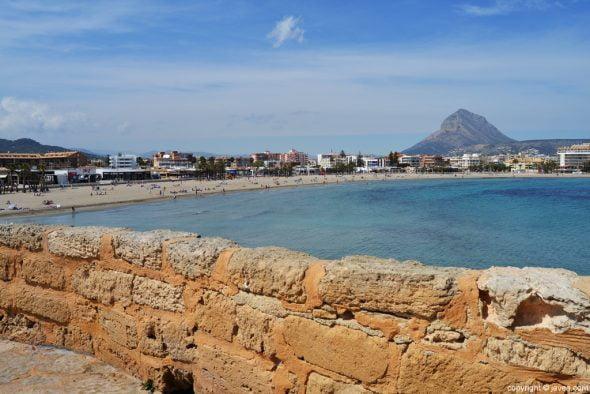 Xàbia, playa y Montgó
