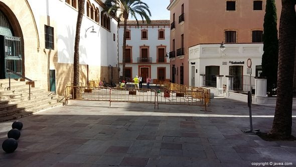 Obras pavimento Plaza Celestino Pons