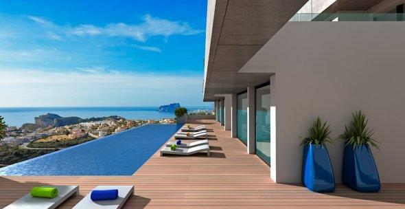 Piscina con vistas Atina Inmobiliaria