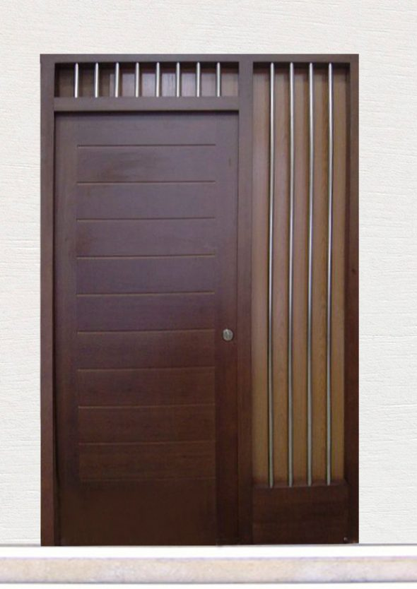 Puerta ref 56 madera pino color wengue mod machiembrado for Puertas color wengue