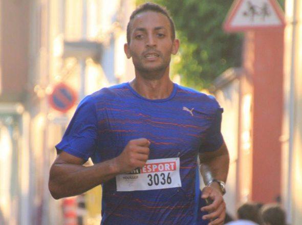 Youssef Ahatach entrando en meta