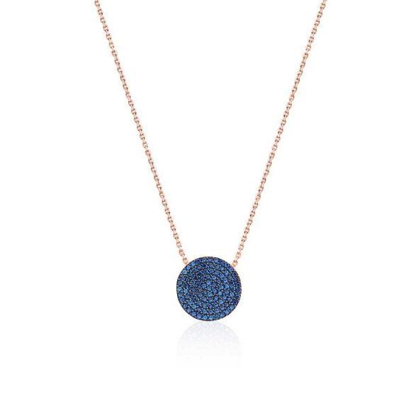 Precioso colgante con detalle en azul de Infinity Jewellery & Gentleman