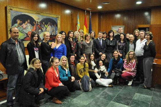 El alcalde de Xàbia recibe a la delegación de Letonia en el ayuntamiento