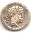 Resto de Moneda Romana de Quinto Sertorio