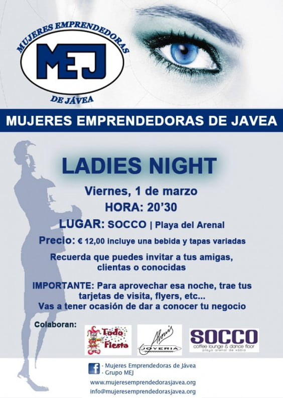 MEJ organiza una Ladies Night en Jávea
