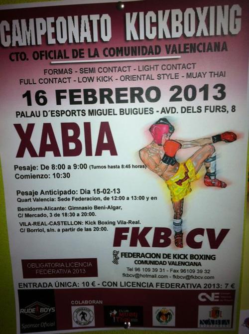 kick boxing xàbia
