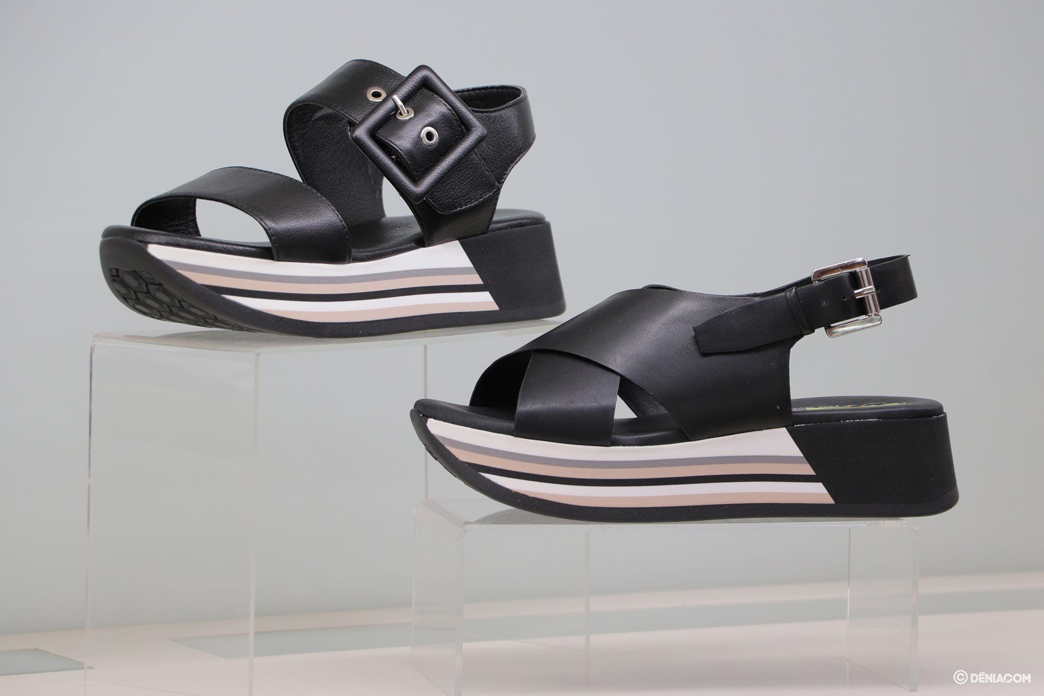Sandalias negras Calzados Ramón Marsal