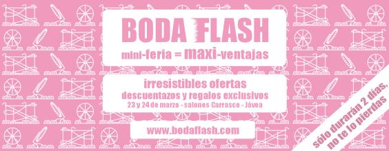 BodaFlash 23 y 24 de marzo en Salones Carrasco