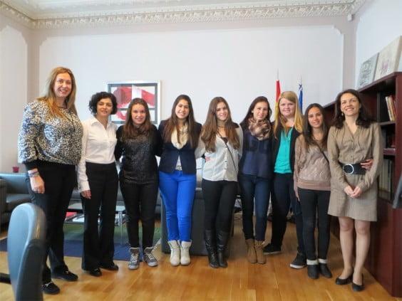 Estudiantes javienses en Letonia