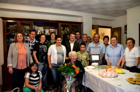 La javiense Francisca Costa celebra sus 100 años