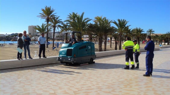 Nueva máquina de limpieza en Xàbia