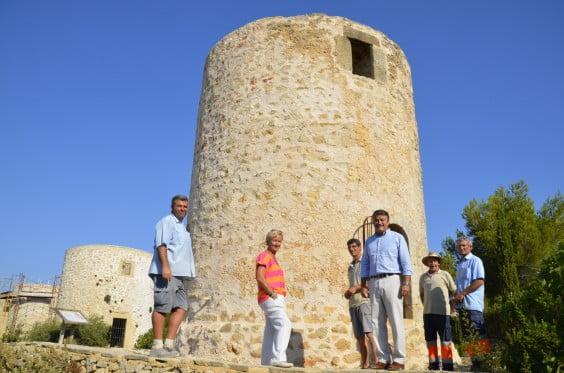 Rehabilitación del Molino número 8 de Jávea tras las obras realizadas por Xàbia Viva, el Ayuntamiento de Jávea