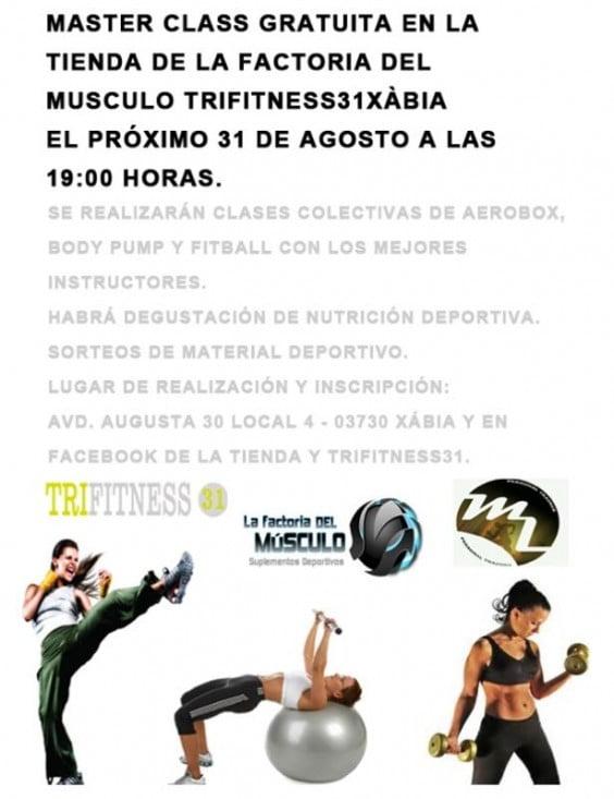 Factoria del Músculo y Trifitness31 Jávea organizan una master class
