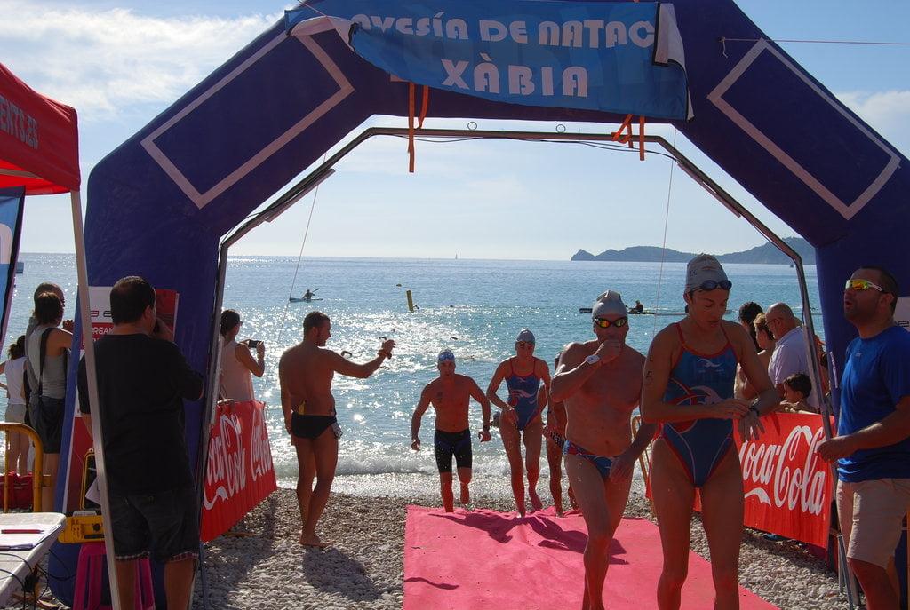 Los nadadores disfrutaron de un mar en calma