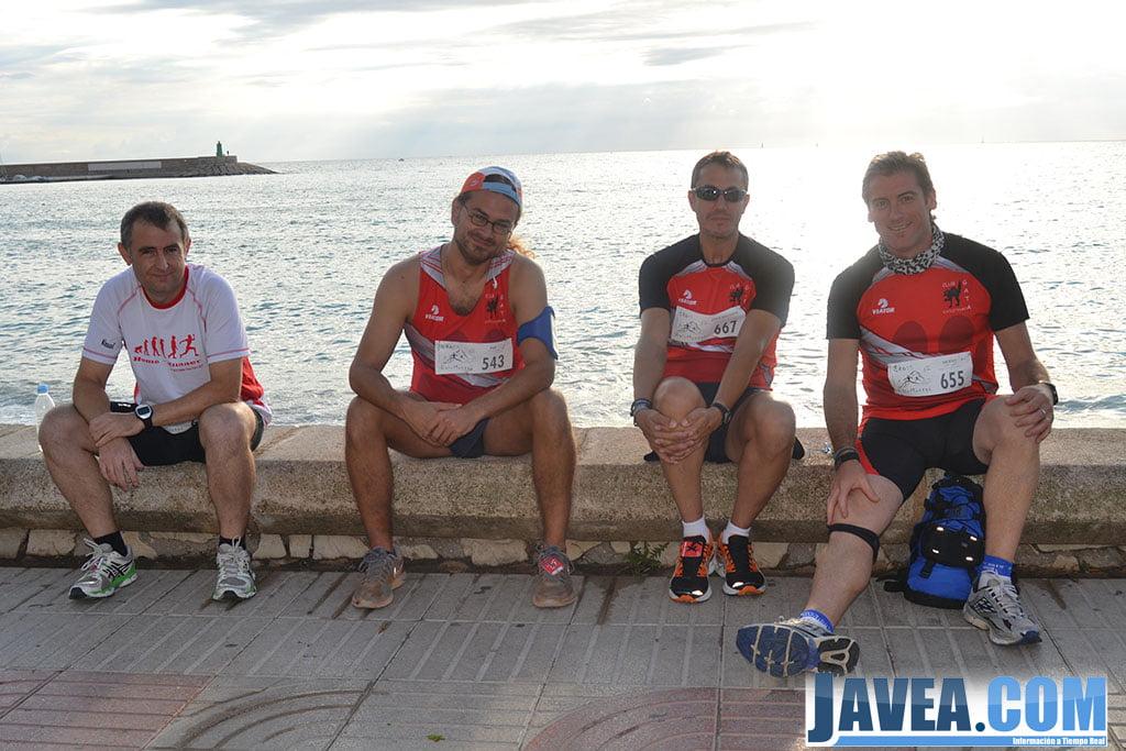 Competidores antes de comenzar la carrera