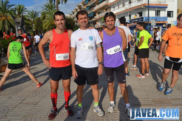 Participantes de la carrera antes de salir